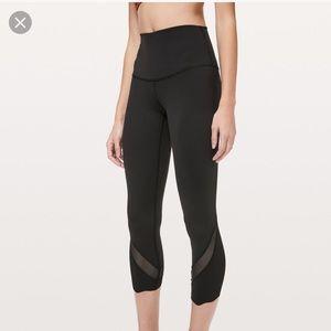 Lululemon wonder under crop II scalloped leggings